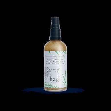Hagi - Naturalny Olejek do Ciała z Olejem Chia i Złotymi Drobinkami