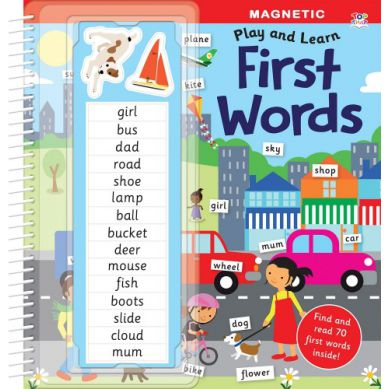 Wydawnictwo Usborne Publishing - Magnetic Play Book - First Words