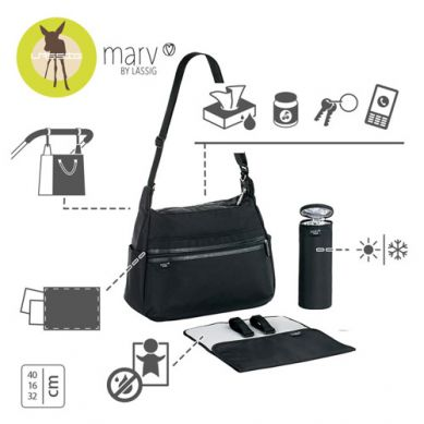Lassig - Marv Torba z akcesoriami Urban Bag Black