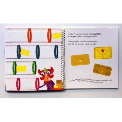 Wydawnictwo Usborne Publishing - Magnetic Play Book - The Colours Machine