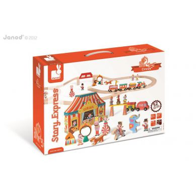 Janod - Story Box Kolejka Drewniana Cyrk 52 części