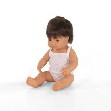 Miniland - Lalka Chłopiec Europejczyk 38cm Brązowe Włosy