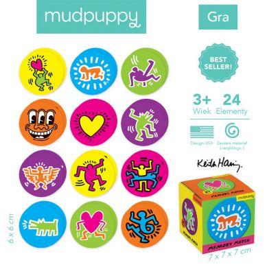 Mudpuppy - Gra Mini Memory Geometryczne Memory Keith Garing
