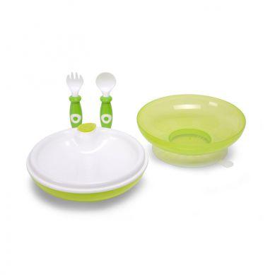 Childhome - Zestaw Obiadowy z Termiczą Miseczką Zielony