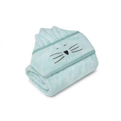 My Memi -   Bambusowy duży ręcznik dusty mint - cat