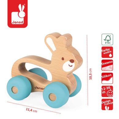 Janod - Królik Pojazd Baby Pop