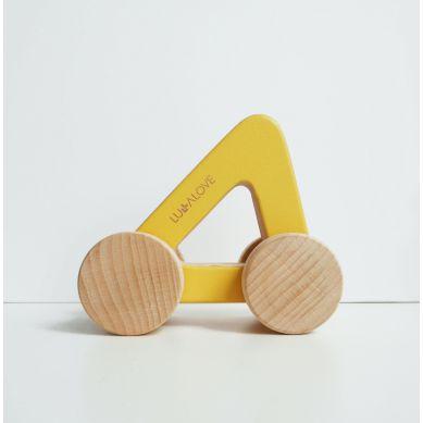 Lullalove - Drewniany Samochodzik z Rączką ODA Car Trójkąt