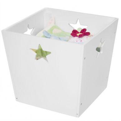 Kids Concept - Pudełko Gwiazdki Białe