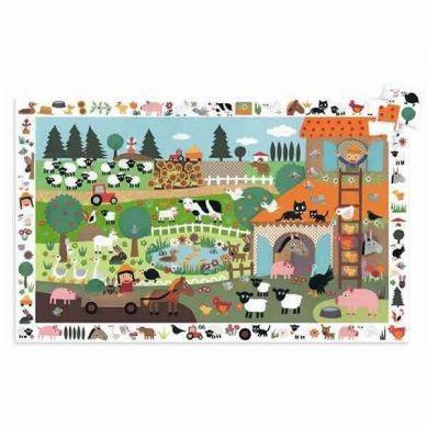Djeco Puzzle Obserwacyjne Farma 35 elementów