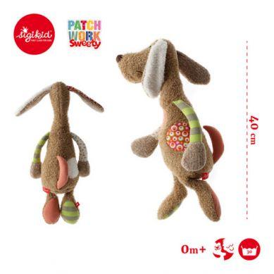Sigikid - Brązowy Pies 40 cm Patchwork Sweety