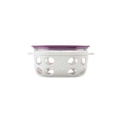Lifefactory - Pojemnik na Żywność 950ml Optic White/Huckleberry