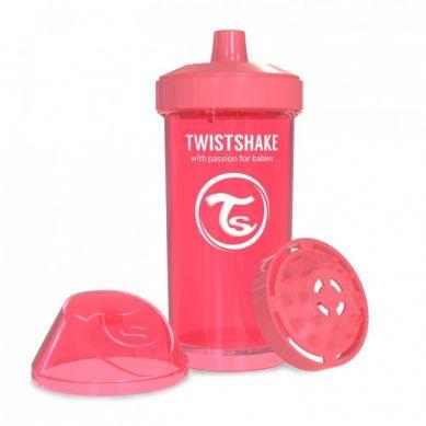 Twistshake - Kubek Niekapek z Mikserem do Owoców 360ml Brzoskwiniowy