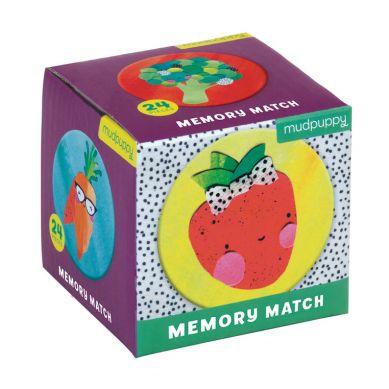 Mudpuppy - Gra Mini Memory Geometryczne Memory Owoce i Warzywa