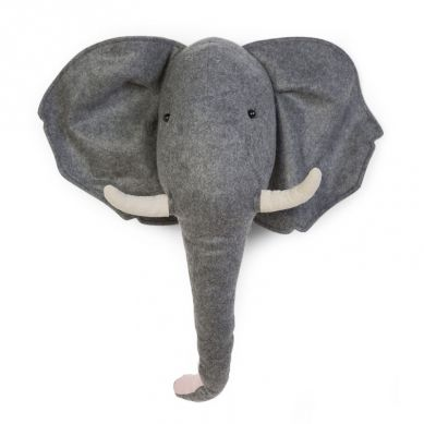 Childhome -  Filcowa Głowa Słonia Na Ścianę