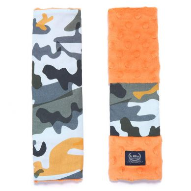 La Millou - Seatbelt Cover Race Camouflage Orange Orange