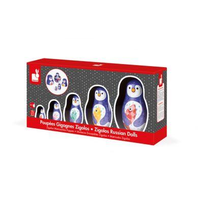 Janod - Rodzina Pingwinów Matrioszki