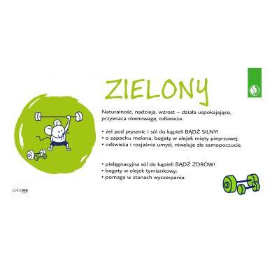 Dresdner Essenz - Sól do Kąpieli Nadaje Zielony Kolor Kapieli Bądź Silny Obniża Napięcie i Poprawia Nastrój 50g