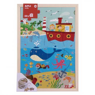 Apli Kids - Drewniane Puzzle w Ramce Ocean 4+