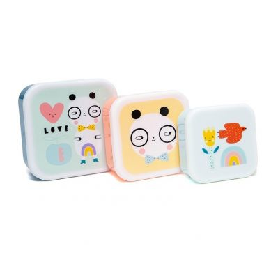 Petit Monkey - Zestaw Lunchboxów Panda Love 3 szt