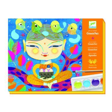 Djeco - Zestaw Artystyczny do Malowania Farbami India
