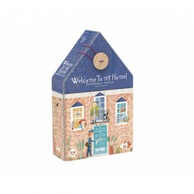 Londji - Dwustronne Puzzle dla Dzieci Witaj w Moim Domu 3+