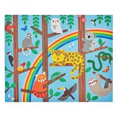 Petit Collage - Puzzle Dwustronne w Torebce Zwierzęta 5+