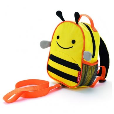 """Plecak Mini ze """"smyczą bezpieczeństwa"""" Pszczółka Skip Hop"""