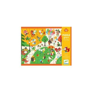 Djeco - Puzzle Flokowane Park