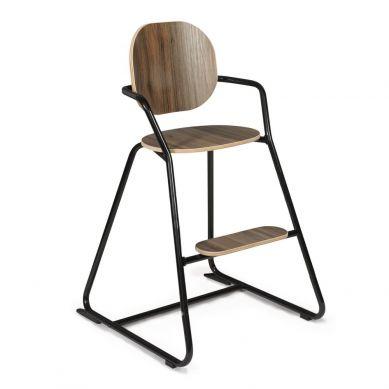 Charlie Crane - Krzesełko do Karmienia Tibu Orzech Włoski Black Edition