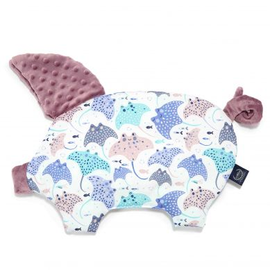 La Millou - Podusia do Wózka Sleepy Pig Manta Ray French Lavender 30x45cm