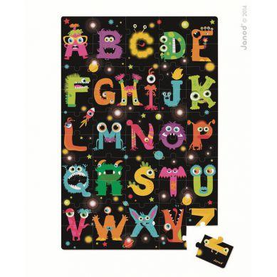 Janod - Puzzle Alfabet Potworki