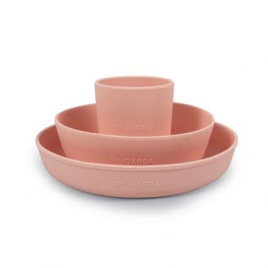 Filibabba - Silikonowy Zestaw Obiadowy Peach