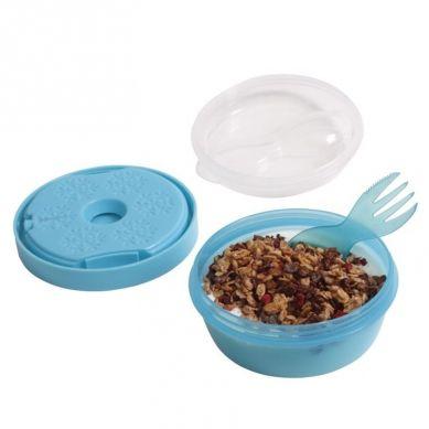 Carl Oscar - N'ice Cup™ Pojemnik Śniadaniowy z Wkładem Chłodzący Turquoise Giraffe