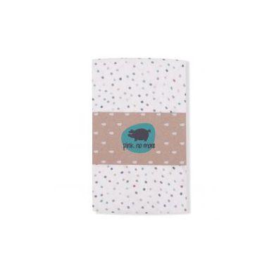 Pink no More - Kocyk Muślinowo-bambusowy Dots White