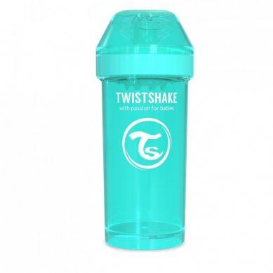 Twistshake - Kubek Niekapek z Mikserem do Owoców 360ml Turkusowy