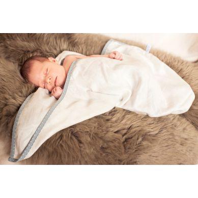 Lullalove - Otulacz Bambusowy SuperPRO Newborn Ecru