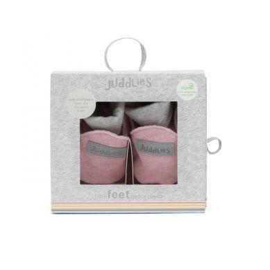 Juddlies - Buciki Niemowlęce Organic Pink