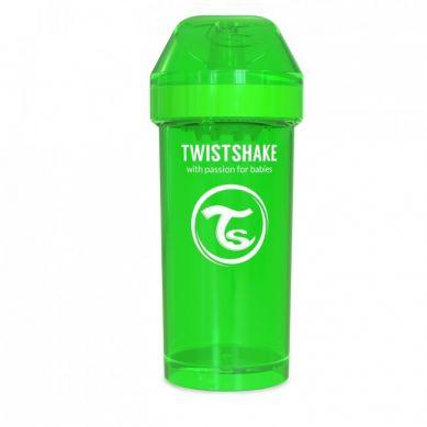 Twistshake - Kubek Niekapek z Mikserem do Owoców 360ml Zielony