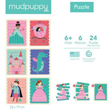 Mudpuppy - Puzzle Patyczki Księżniczki 24 el