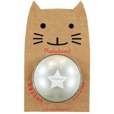 Ratatam - Piłka Mała 15 cm Glitter Silver
