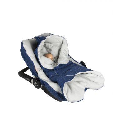 Muzpony - Pikowany Śpiworek/Otulacz do Fotelika Samochodowego Blink Blue