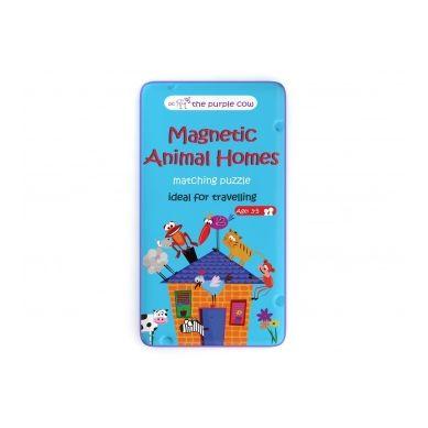 The Purple Cow - Podróżna Gra Magnetyczna Puzzle Zwierzęta i ich Domy 8+