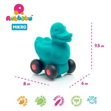 Rubbabu - Kaczka Pojazd Sensoryczny Turkusowy Mikro