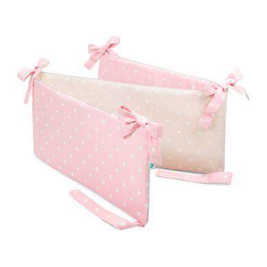 Lamps&co. - Ochraniacz do Łóżeczka Lovely Dots Pink & Beige