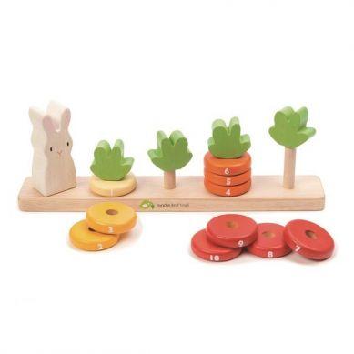Tender Leaf Toys - Drewniana Zabawka Królik i Liczenie Marchewek 18m+