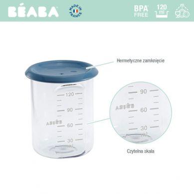 Beaba - Słoiczek z Hermetycznym Zamknięciem 120 ml Blue