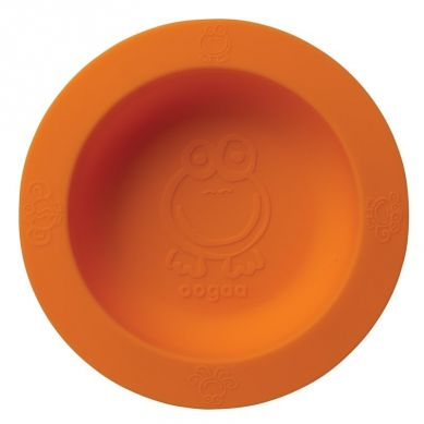 Oogaa - Silikonowa Miseczka z Pokrywką Orange  Bowl & Lid