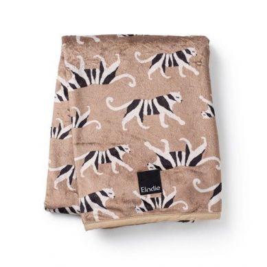 Elodie Details  - Kocyk Pearl Velvet White Tiger Warm Sand
