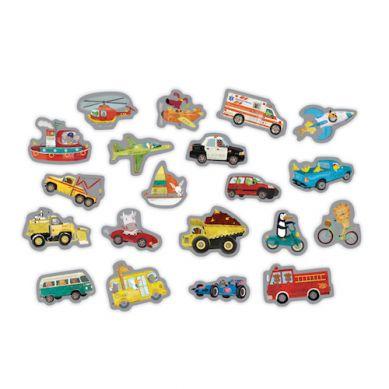 Mudpuppy - Tekturowe Magnesy Pojazdy