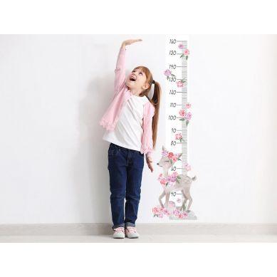 Pastelowelove - Naklejka na Ścianę Miarka Sarenka Różowa